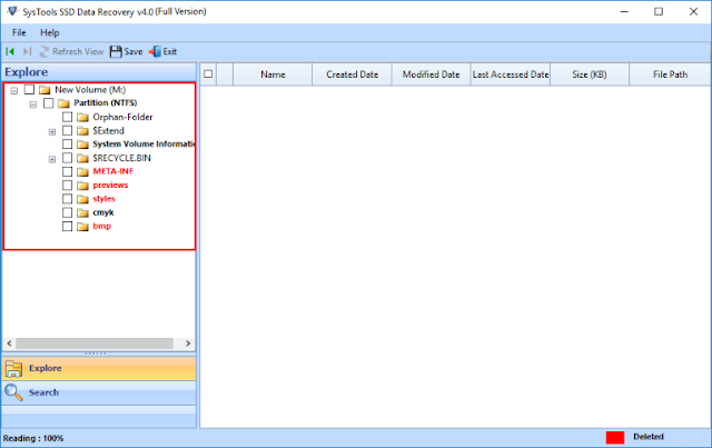 Screenshot SysTools SSD Data Recovery 4.0.0.0 Full Version