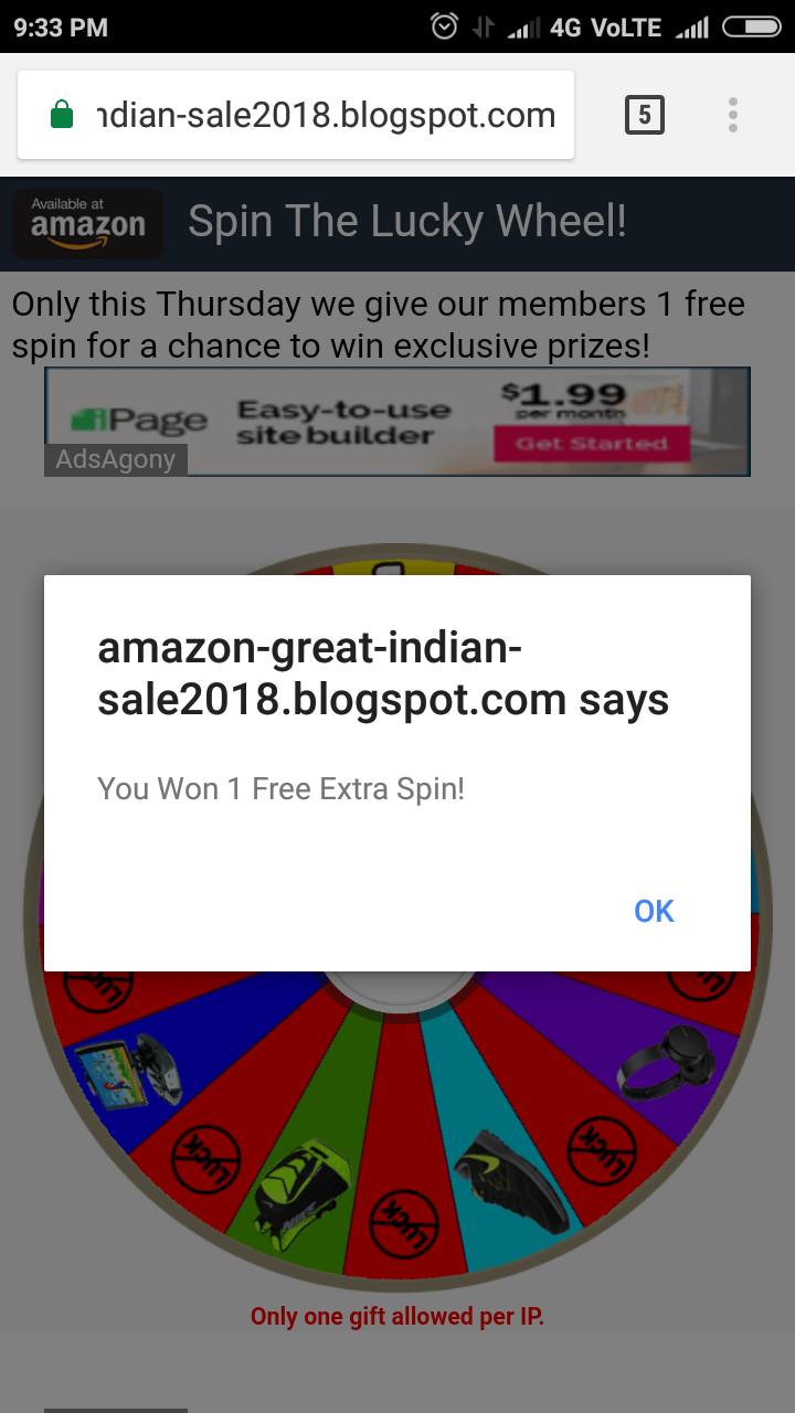 😱ब्लॉगर (blogger) पर पहली बार Spin to Win