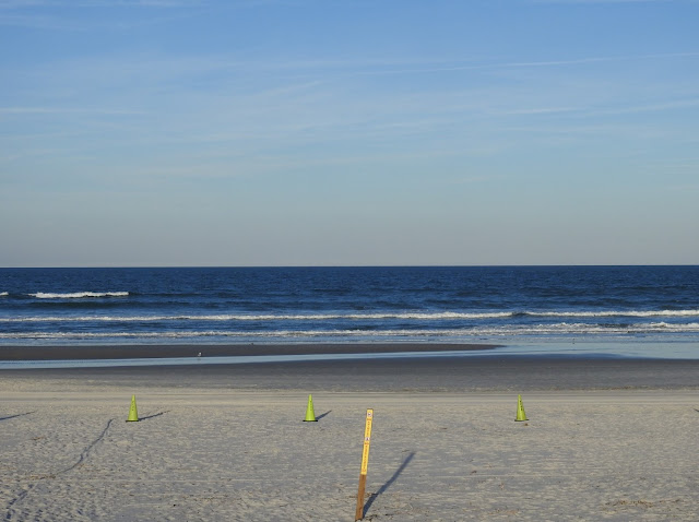 The beach at New Smyrna Beach.