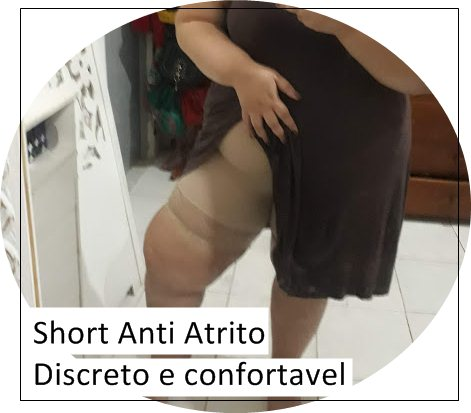 Short Anti Atrito plus size