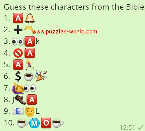 Guess these Characters from the Bible Puzzles World
