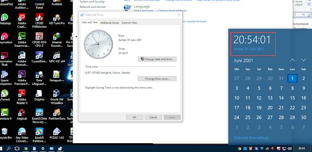 Cara mengatasi waktu & tanggal tidak sesuai di windows 10