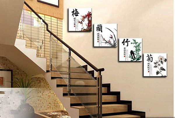 Bật mí cách chọn tranh trang trí cầu thang đẹp, hợp phong thủy