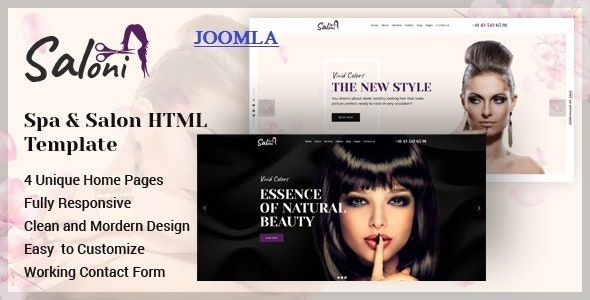 Best Spa and Salon Joomla Template