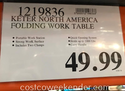 Deal for the Keter Folding Work Table at Costco