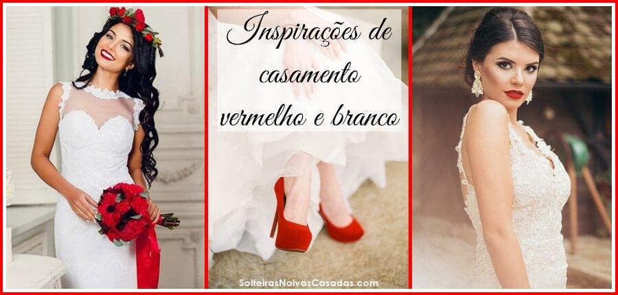 Inspirações de casamento vermelho e branco