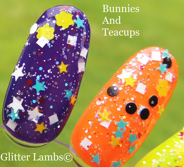 Bunnies And Teacups Glitter Topper Nail Polish By Glitter Lambs