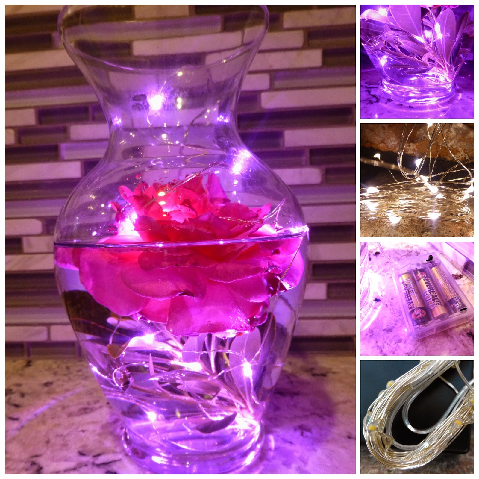 Diy Glowing Centerpieces Using Rtgs Micro Led Lights