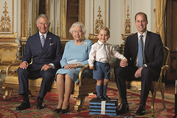 Prince William, Prince George, and the Duchess of Cambridge