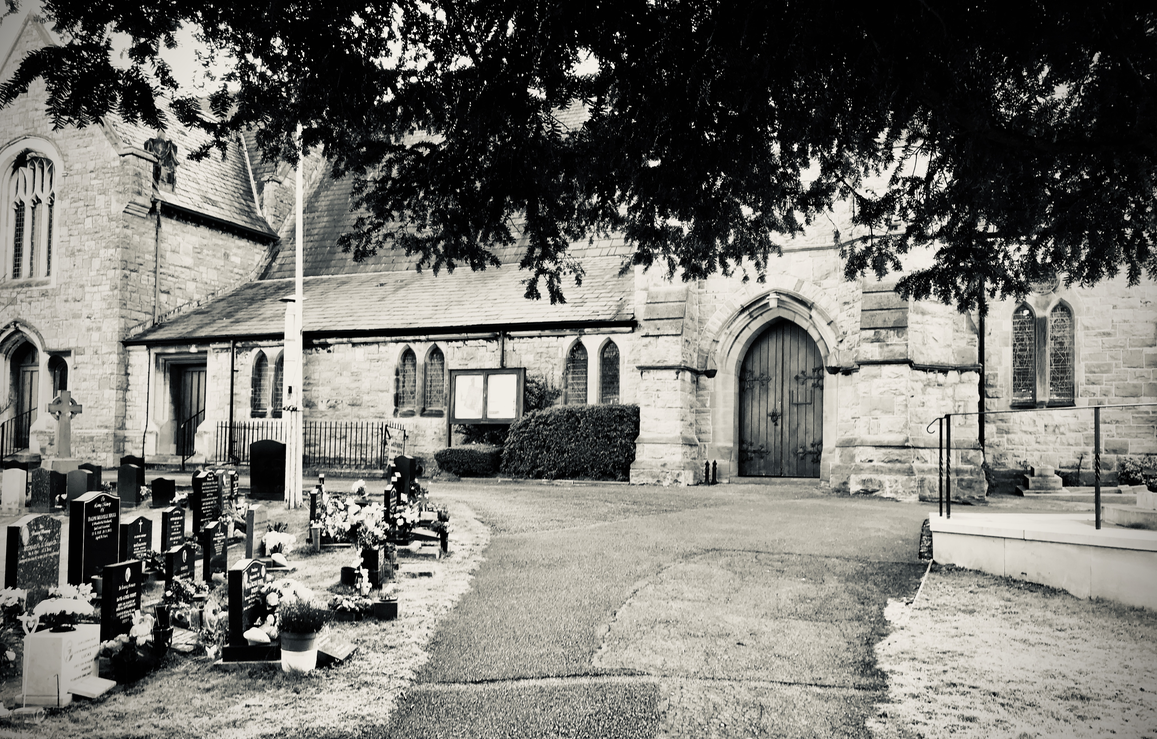 Christ Church in Black & White Closed.