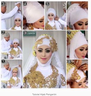 Contoh Model Hijab Pengantin