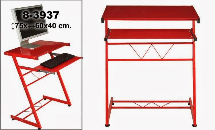 mesa de ordenador pequeña, mesa roja pc