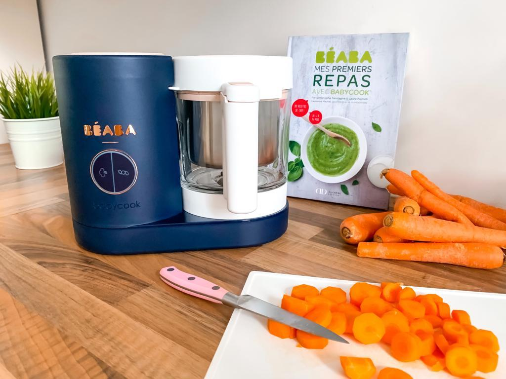 avis site oxybul puériculture maman indispensable nécessaire à avoir beab babycook neo diversification alimentaire puree carottes