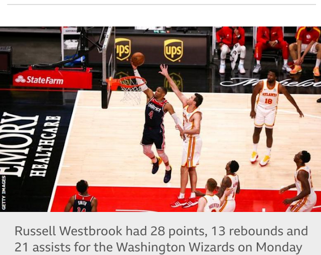Russell Westbrook broke Oscar Robertson's NBA record in Washington Wizards