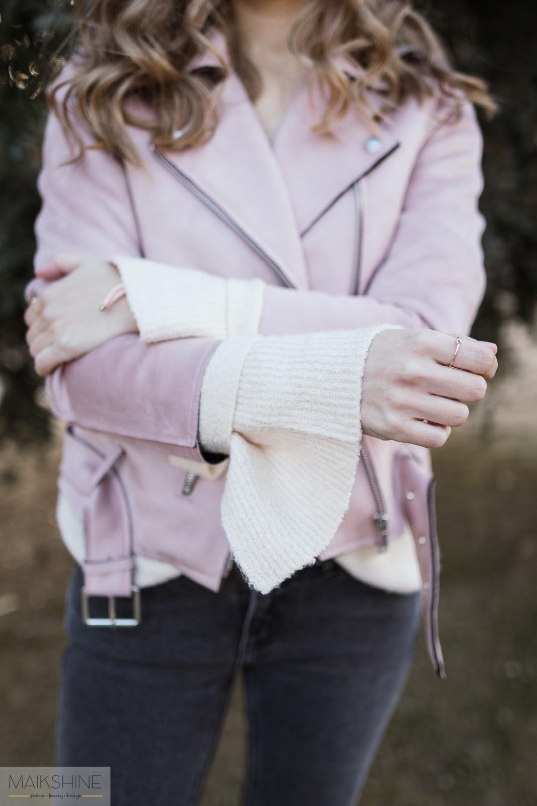 Pink biker outfit Maikshine blog