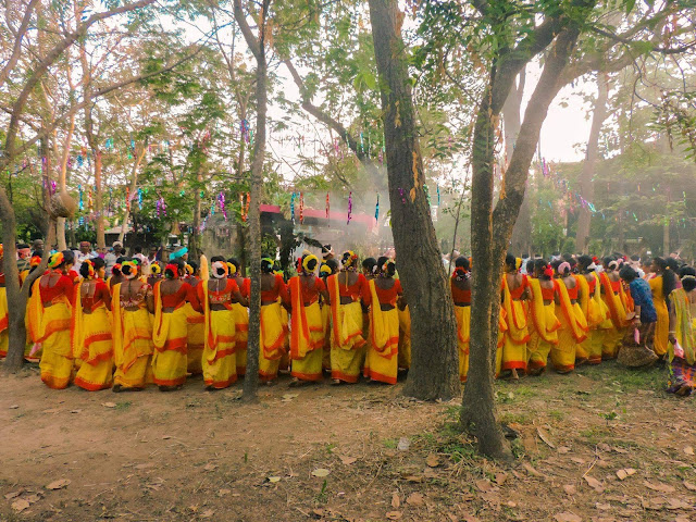Santali dance group