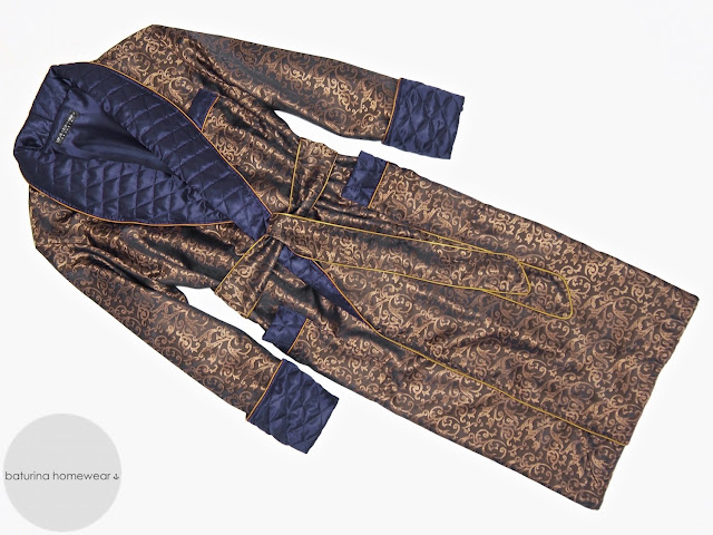mens luxury paisley silk dressing gown quilted robe lined extra long full length