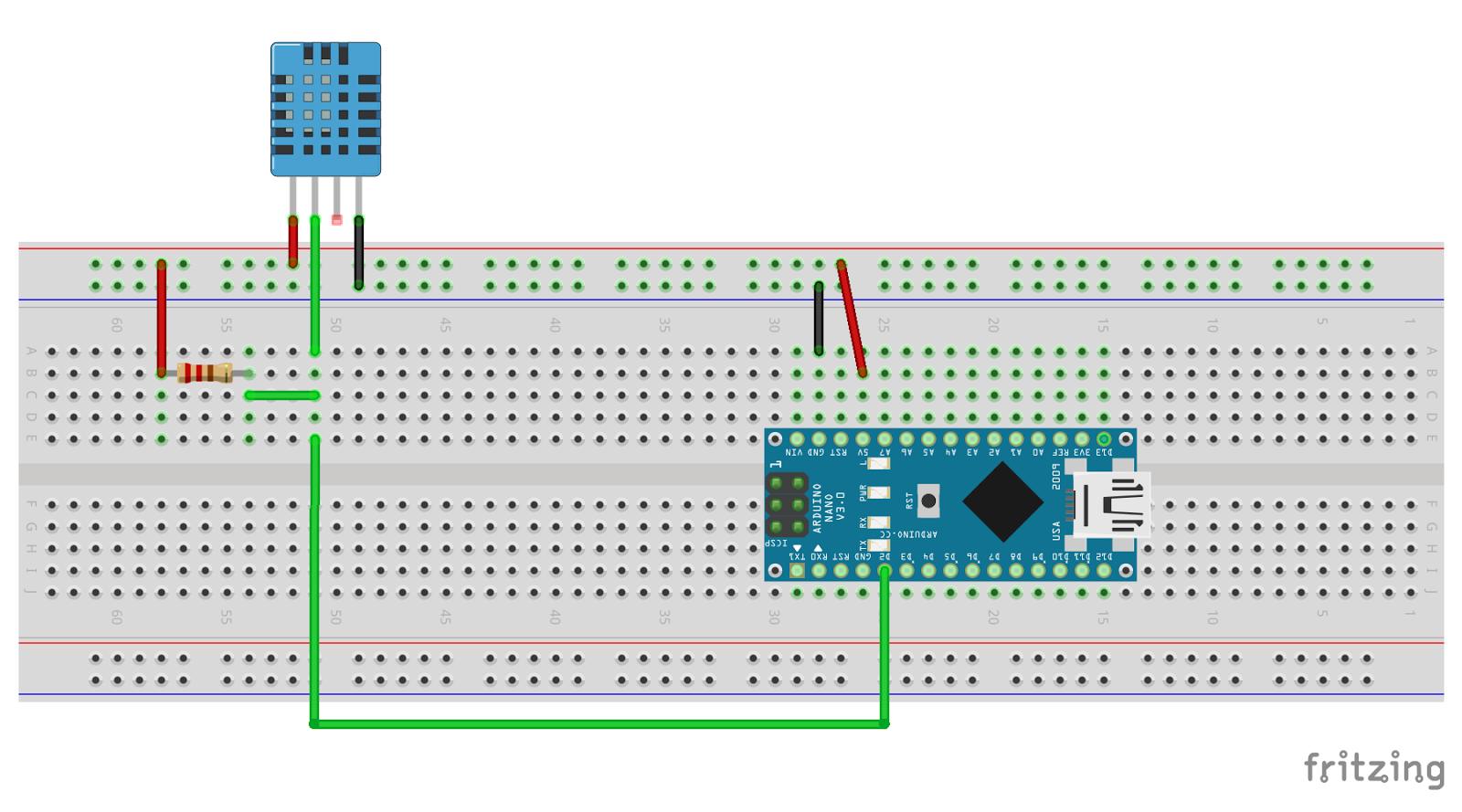 Arduino-er: Arduino Nano + DHT11, Temperature & Humidity sensors