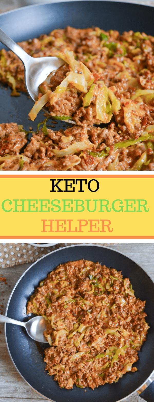 KETO CHEESEBURGER HELPER #KETO #LOWCARB #GLUTENFREE #CHEESEBURGER