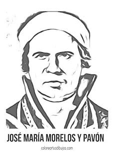 José María Morelos colorear México