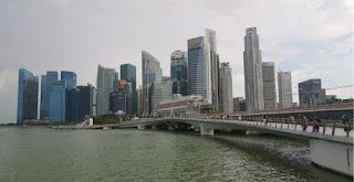 Distrito financiero o Downtown Core de Singapur.