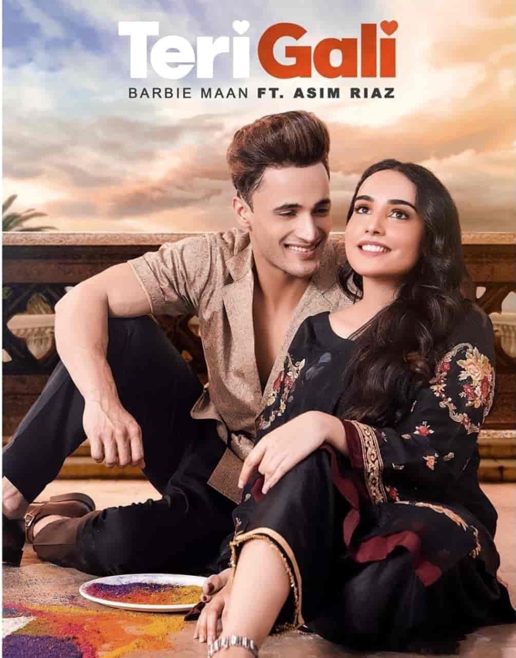 Teri Gali Song Image Features Asim Riaz and Barbie Maan
