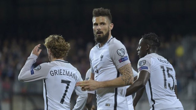 newgersy/Clinical Giroud earns France 3-1 win in Luxembourg