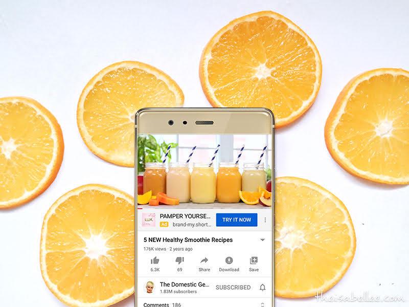 Fruit smoothie recipe on YouTube