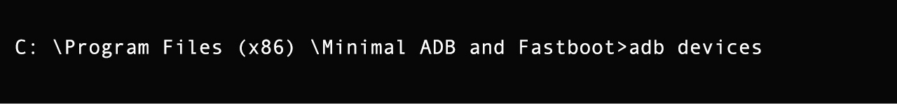 adb devices