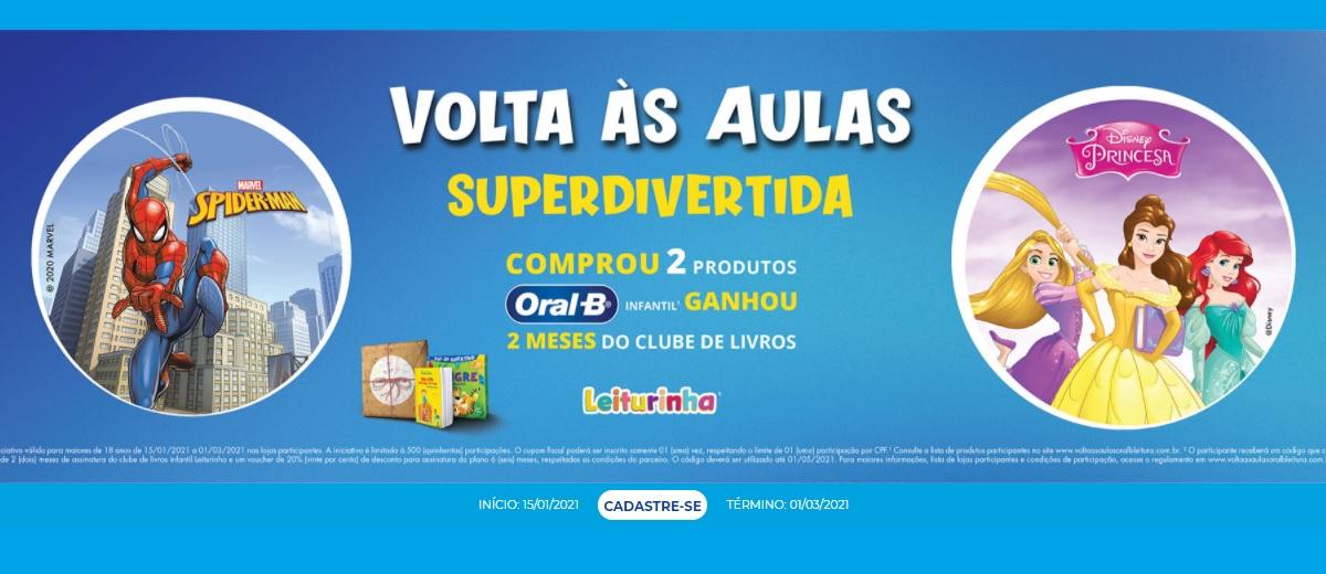 Promoção Oral-B Comprou Ganhou Volta às Aulas Superdivertida