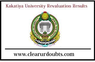 Kakatiya university Revaluation results 2017