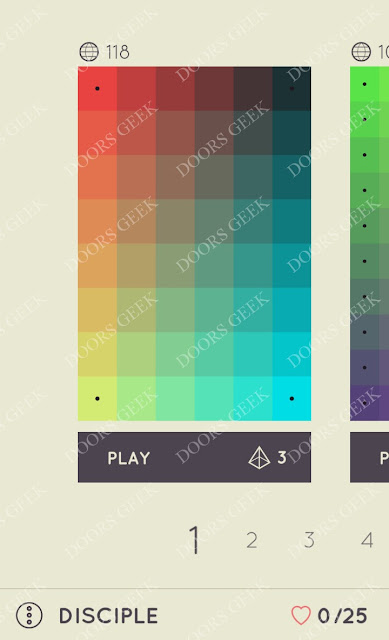I Love Hue Disciple Level 1 Solution, Cheats, Walkthrough