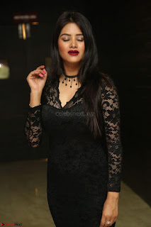 Actress Monica in spicy transparent Black Top at O Pilla Nee Valla Movie Audio Launch Feb 2017 121.JPG