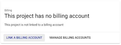 GCP billing account
