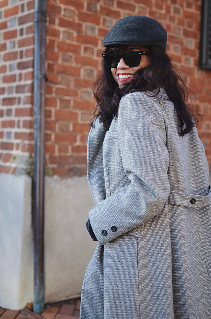 Houndstooth coat street style