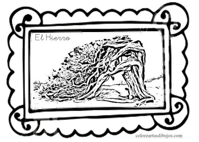 Colorear dibujo Sabina El Hierro