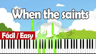 cuando los santos marchan piano easy