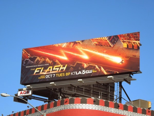 The Flash series premiere billboard