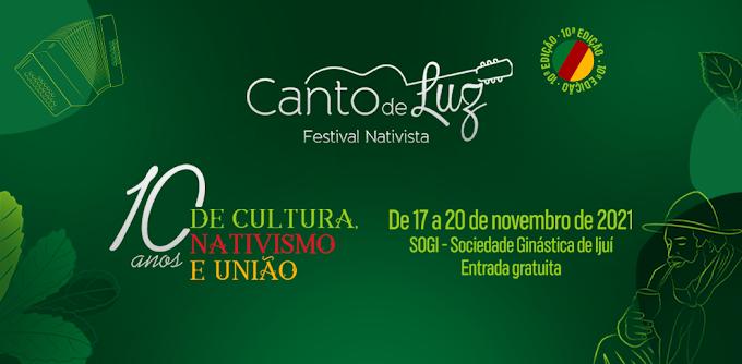 Estão abertas as inscrições para o 10º Festival Nativista Canto de Luz e 6ª Lamparina da Canção Gaúcha