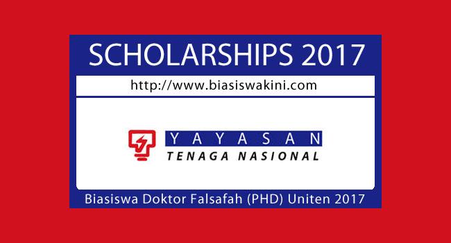 Biasiswa Doktor Falsafah (PHD) Uniten 2017