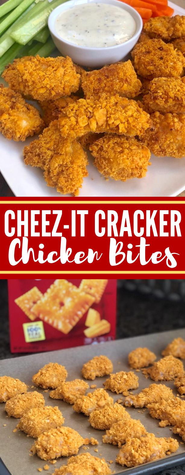 Cheez-It Cracker Chicken Bites #dinner #appetizers #snacks #chicken #lunch