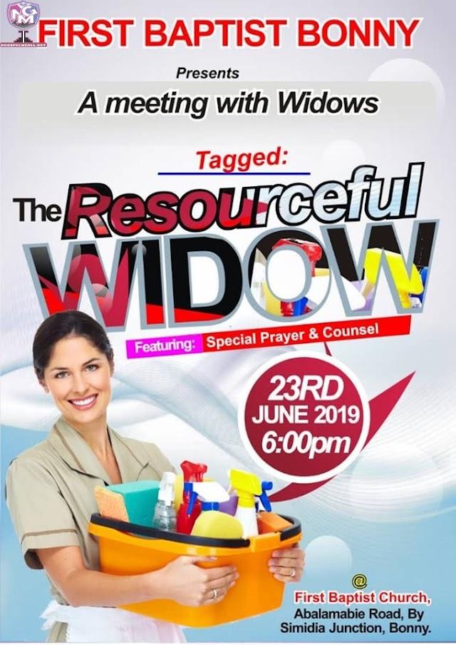 First Baptist Bonny - A Meeting With Widows {Event}