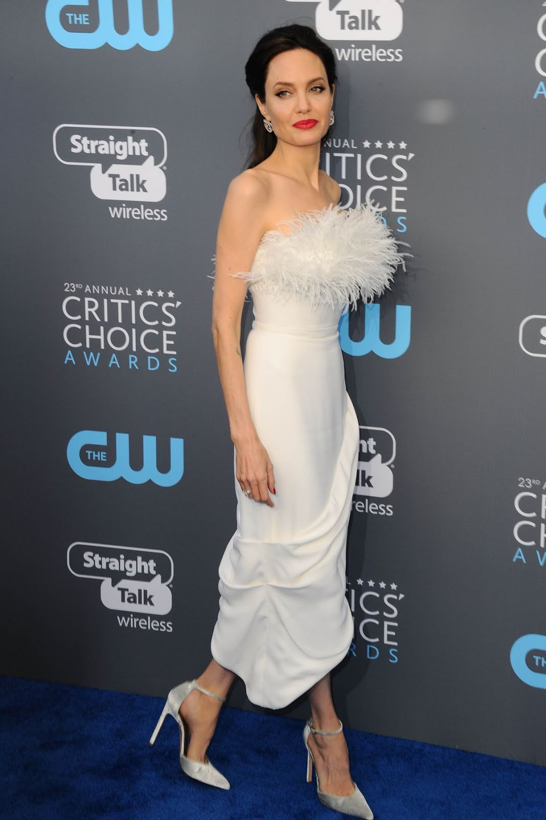 Angelina Jolie At 2018 critics Choice Awards In Santa Monica