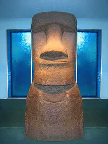 American Museum of Natural History Moai Easter Island Figure.