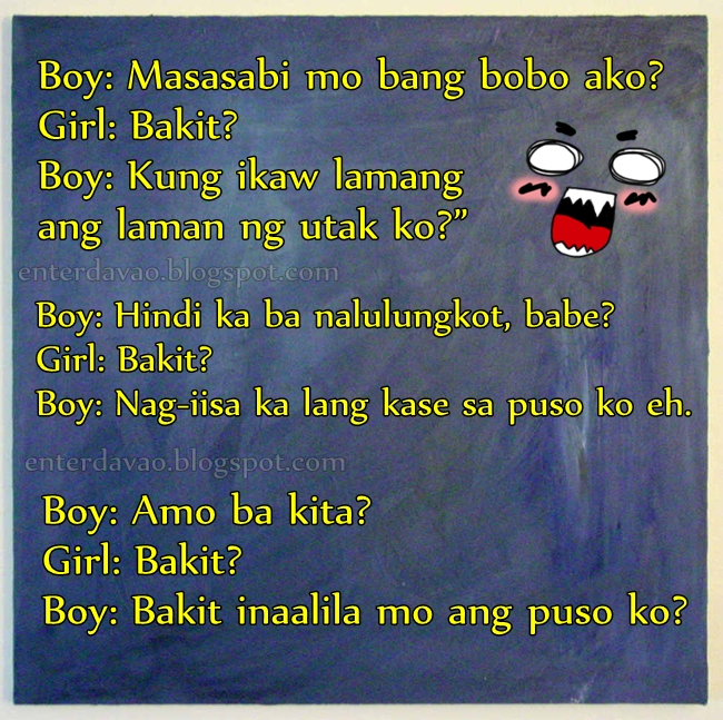 "Enter Davao: FAMOUS ""ACHECHE"" PICK UP LINES"