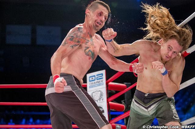 WBKFF 1 results : Jeff Chiffens def. Fred Pierce via TKO (punches) – Round 1, 1:04