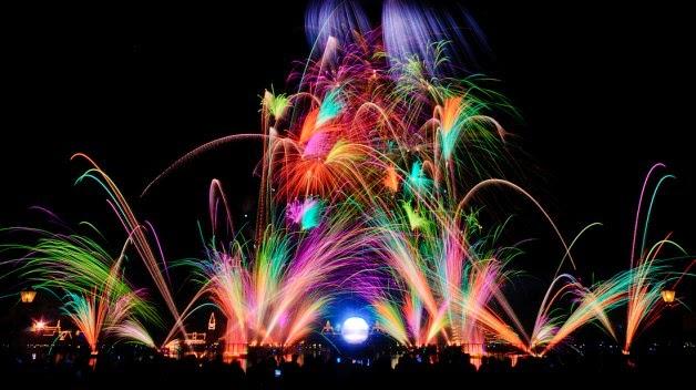 Fogos do IlumiNations no Epcot Disney em Orlando