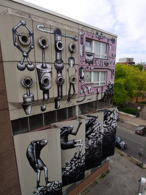 Phlegm is currently in Berlin, Germany where he was invited by the good lads from Urban Nation to paint for their One Wall Project.