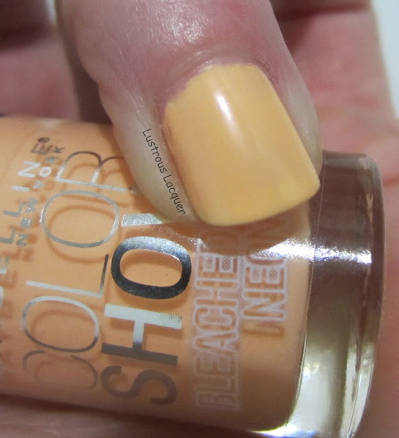 Maybelline Bleached In Peach Bleached Neons Collection