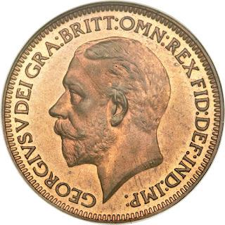 British Coins Farthing 1934 King George V